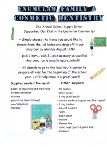 School Supply Drive 2015 001